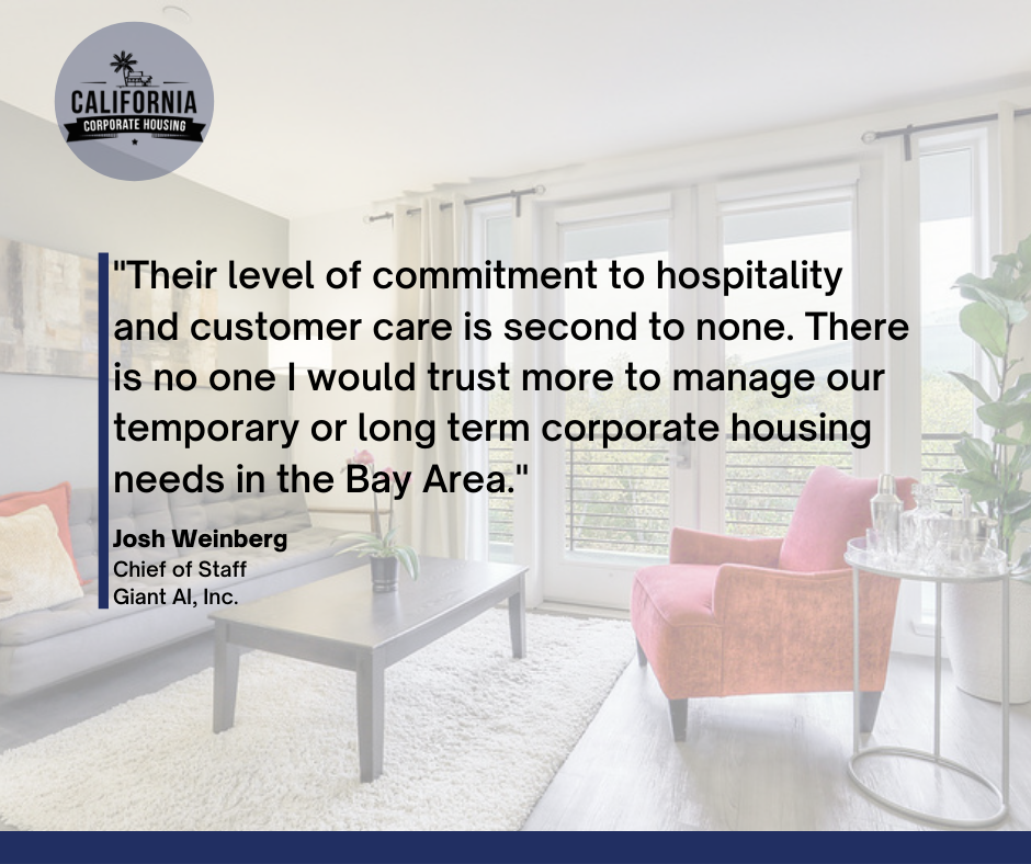 California Corporate Housing Guest Testimonial